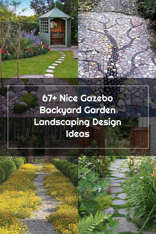 67+ Nice Gazebo Backyard Garden Landscaping Design Ideas #gazebo #backyardgarden #gardenlandscaping