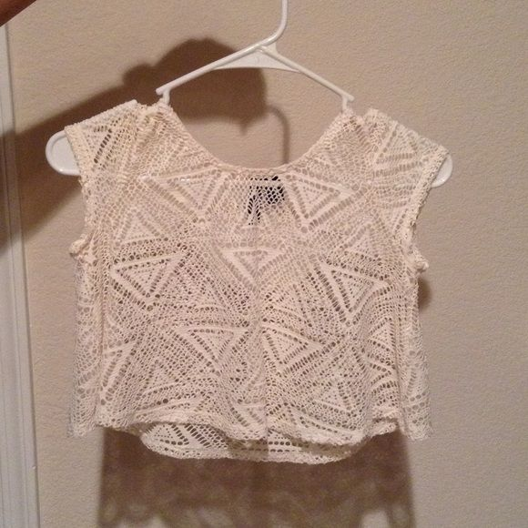 Crochet crop top! Never used Tops Crop Tops