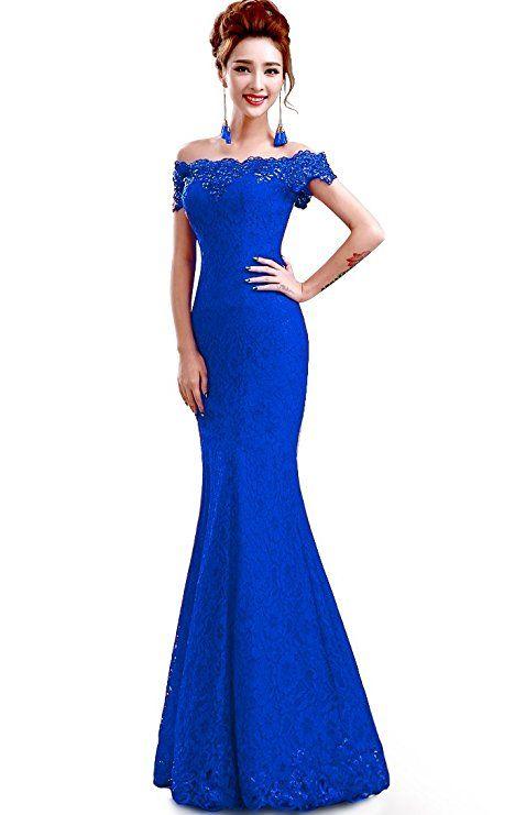 Traumhaft schönes Abendkleider mit Spitze in blau. Perfekt als ...