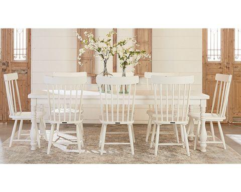 8' Vase Turned Dining Table Main Image | Farm house living ...