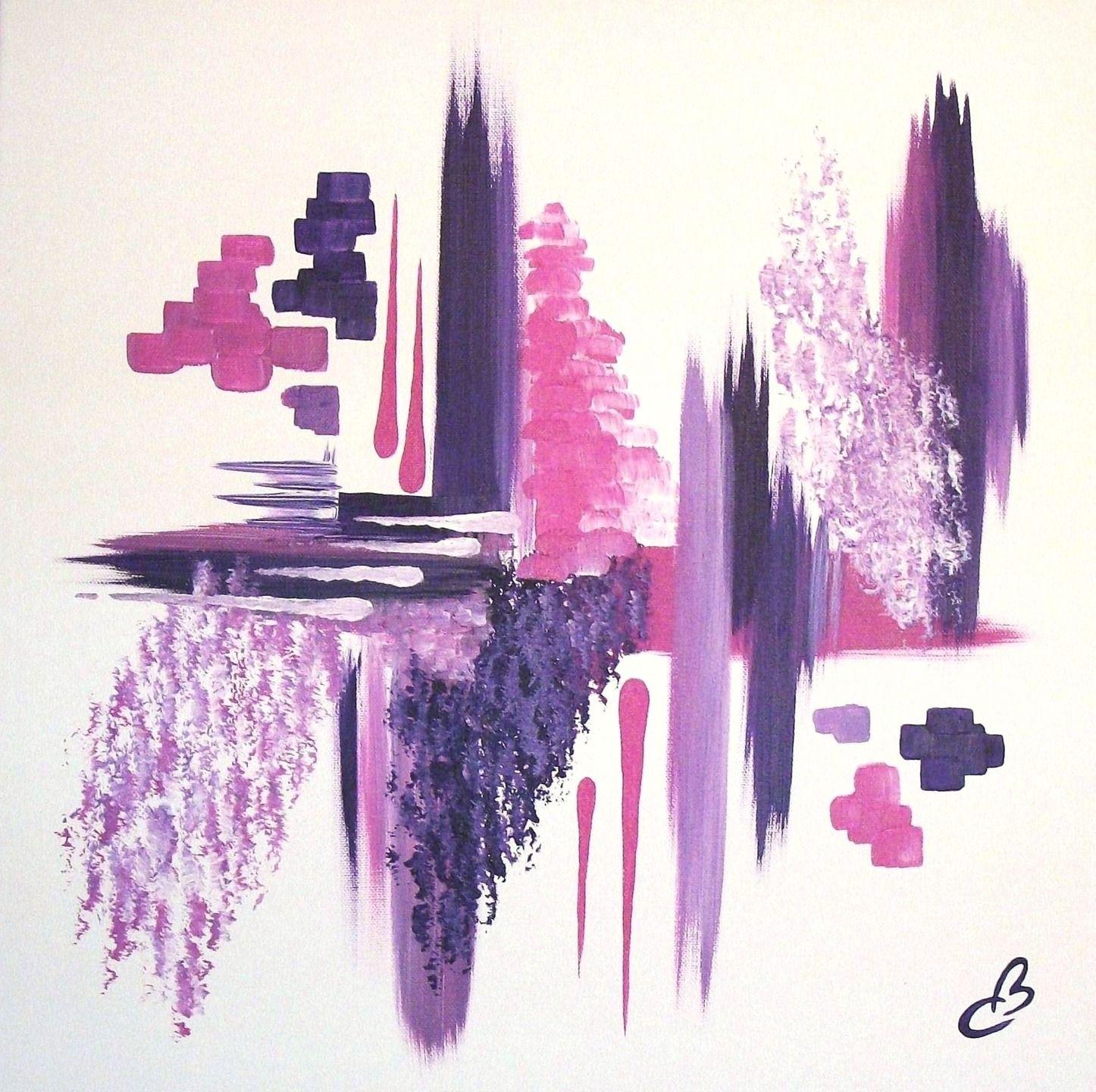 tableau abstrait fragrance violet et rose peintures par catherine ballandras artiste peintre. Black Bedroom Furniture Sets. Home Design Ideas