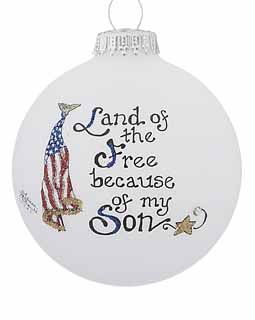 Buy Land Of The Free Because Of My Son Personalized Military Christmas Ornaments Gifts And Decoratio Christmas Ornaments Army Christmas Christmas Decor Diy