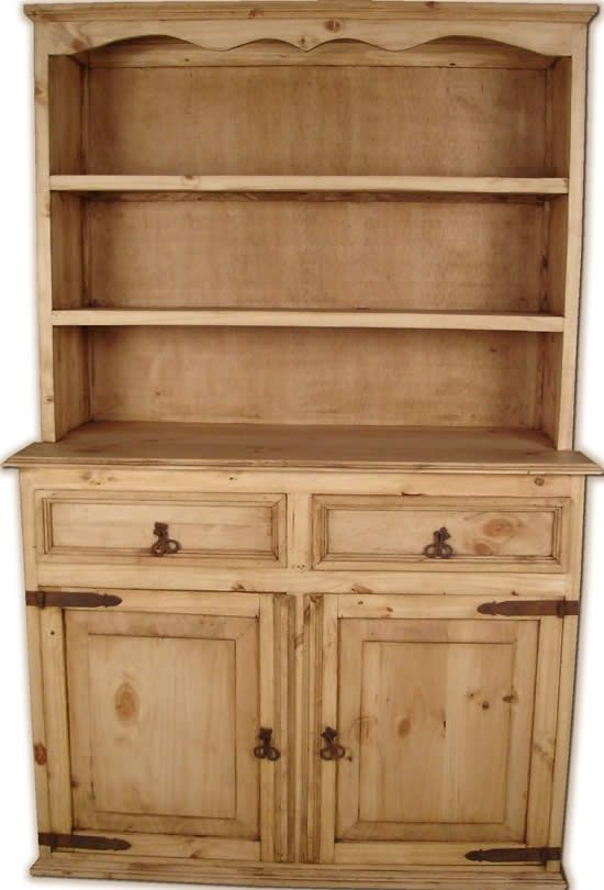 Picture of Gonzalez Rustic Furniture Two Door Rustic Pine