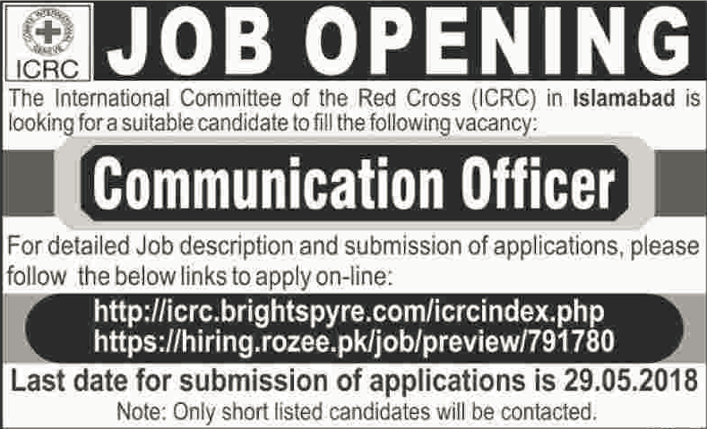 Communication officer ICRC