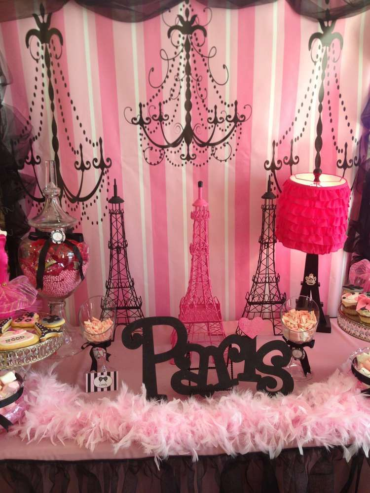 Superior Paris Themed Party Decoration Ideas Part - 8: Paris Birthday Party Ideas | Photo 1 Of 20 | Catch My Party