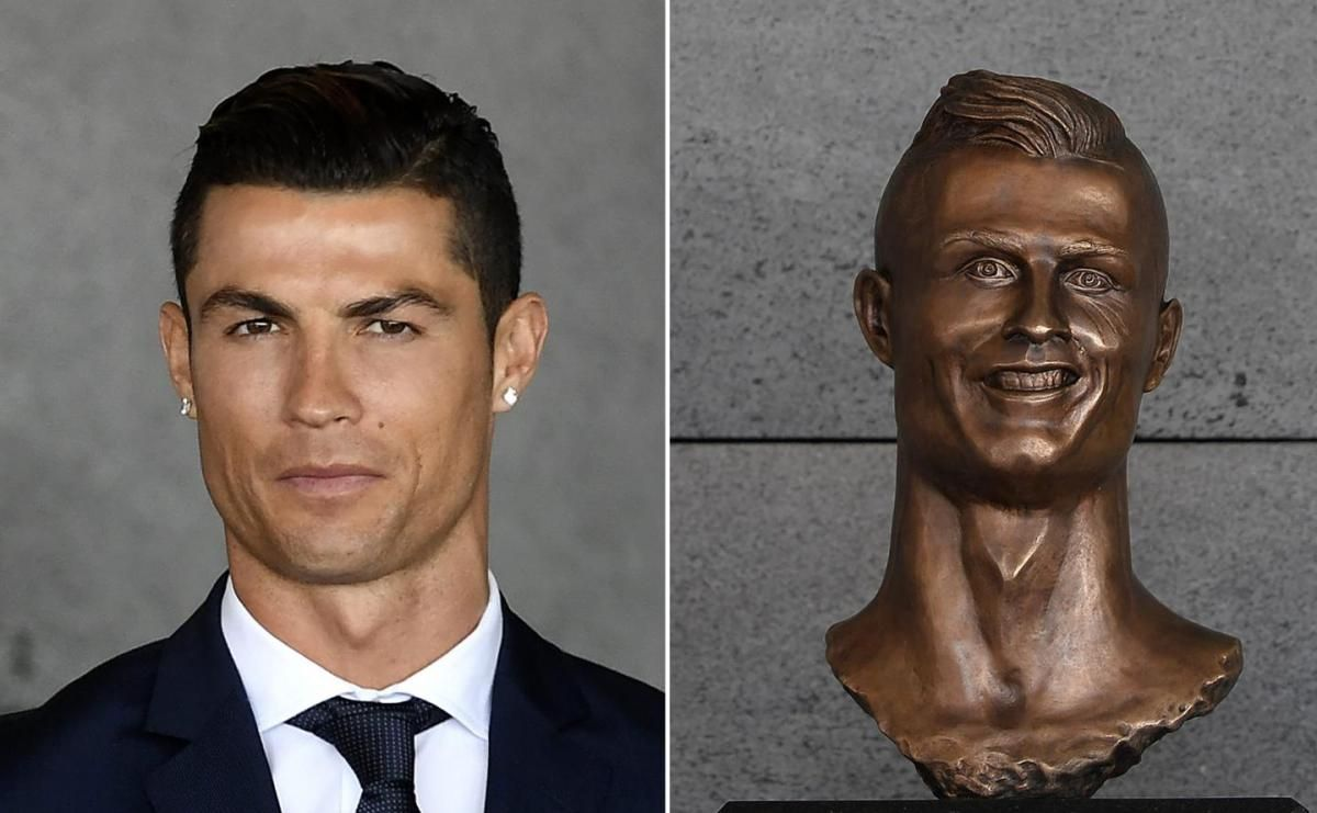 Madera Island Airport Honored Cristiano Ronaldo with this bust.