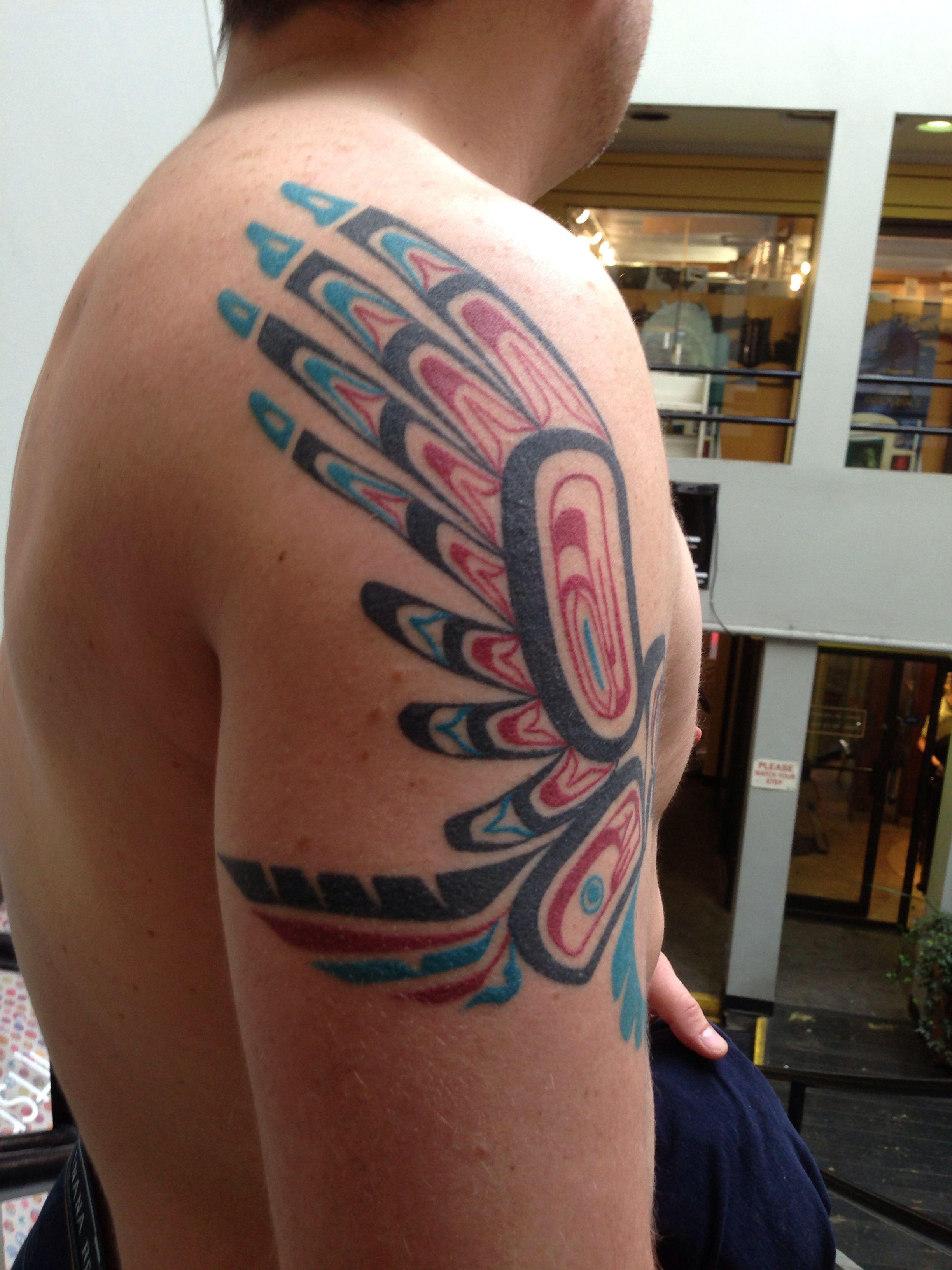 Haida Owl By Gauge Gauge S Tattoos Haida Tattoo Tattoos