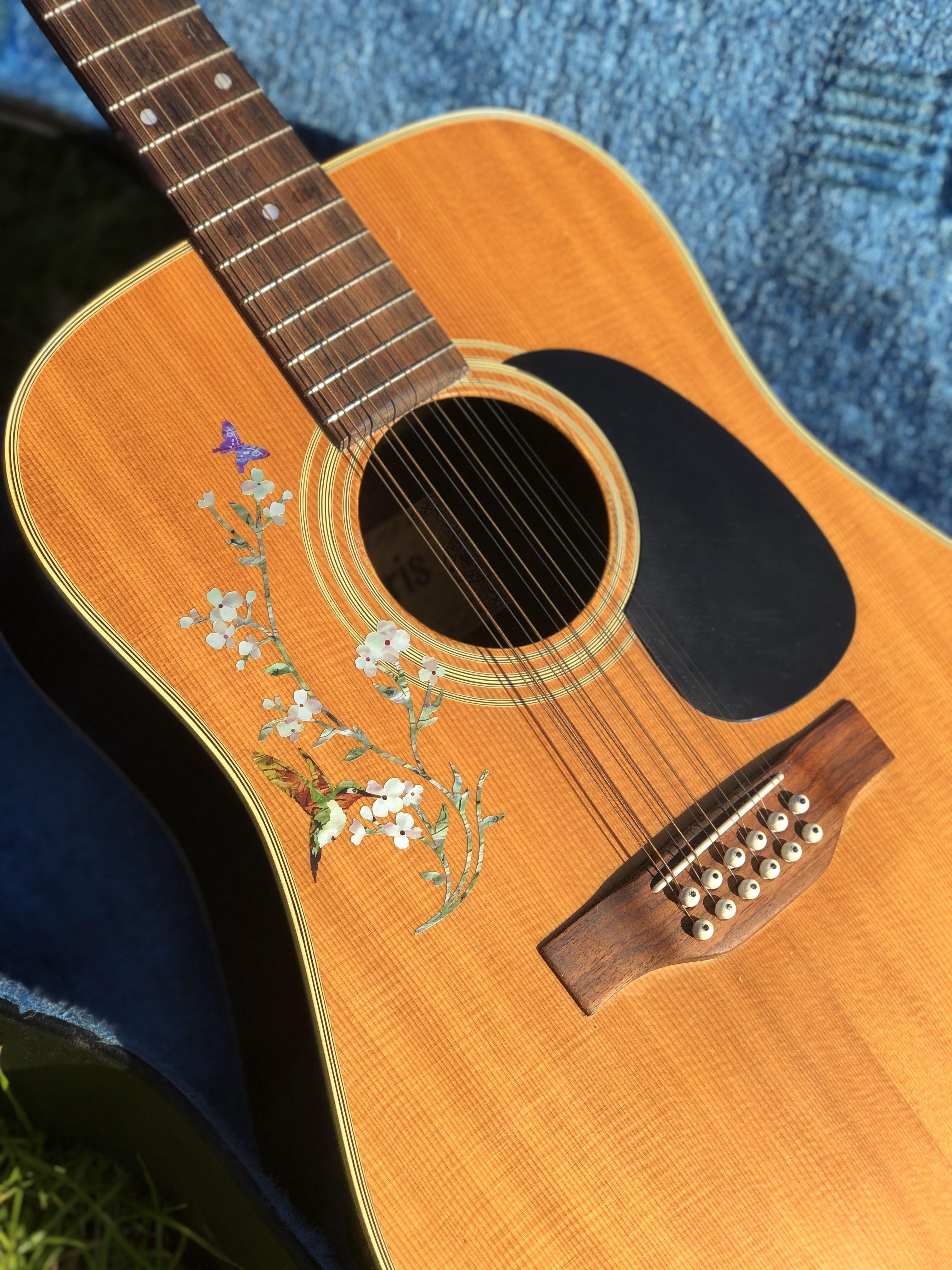 In The Garden Flowers Hummingbird Butterfly In 2020 Acoustic Guitar Art Guitar Art Acoustic Guitar Photography