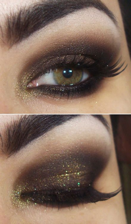 a sparkly touch to smokey eyes