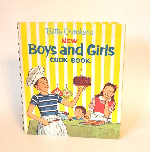 Vintage 1965 Betty Crocker New Boys And S By Cocoskitchen 16 00 Cooking