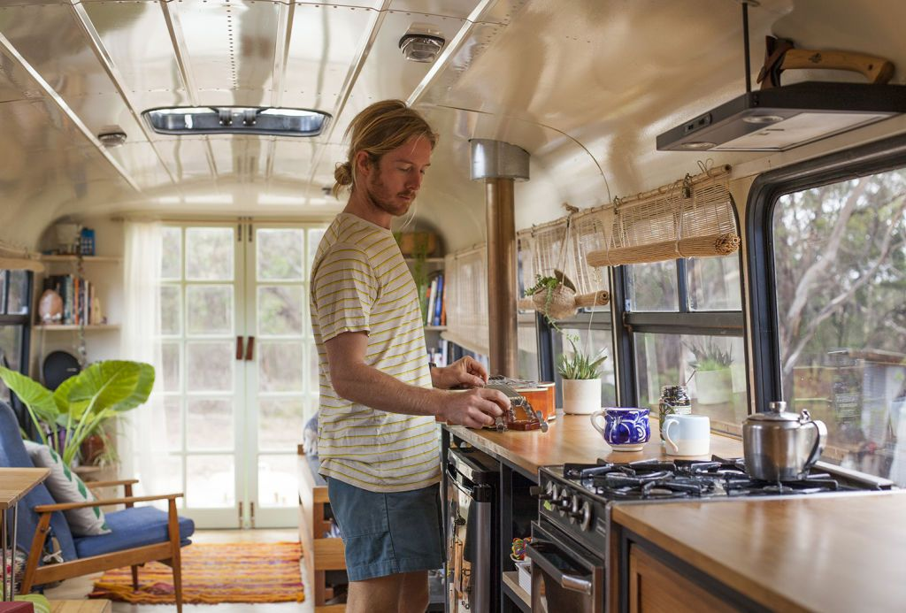 Meet The Couple Living In A School Bus Converted School