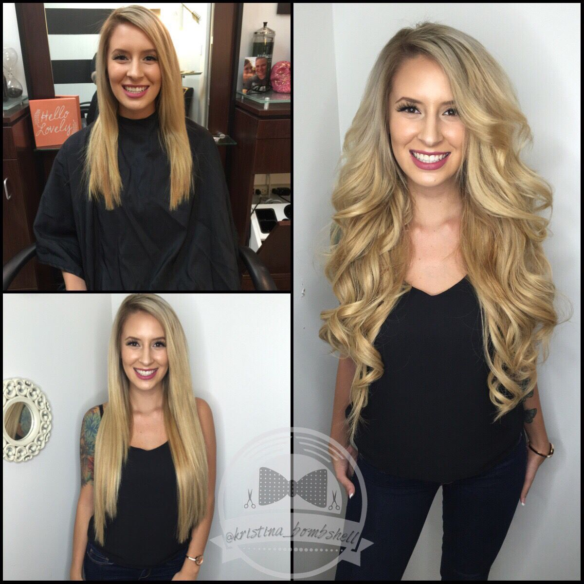 Bombshell Hair Microbead Extensions Hair By Kristina Jobe