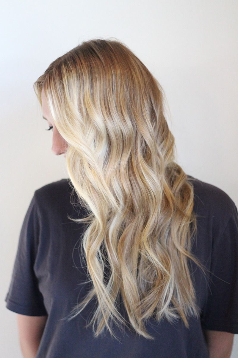 Blonde Melt And Hair Extensions Done By Danielle K White For