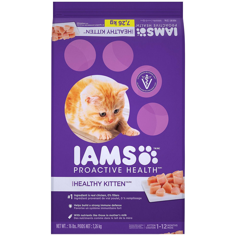 Iams Proactive Health Healthy Kitten Dry Cat Food 16 Lbs Kitten Food Dry Cat Food Dry Dog Food