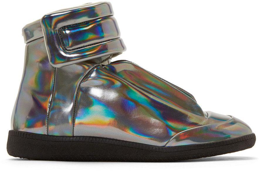 silver margiela sneakers