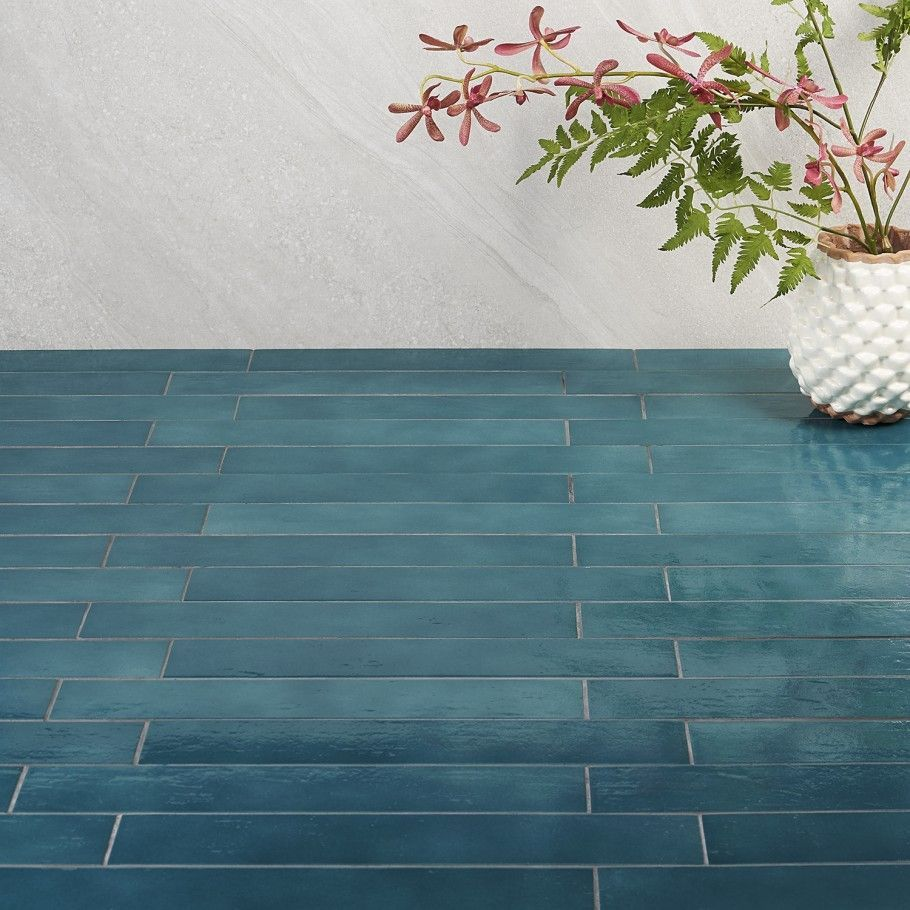 Cavallo Fiji Blue Glazed Porcelain Tile Floor Design Blue Cavallo Design Fiji Floor Glaze In 2020 Polished Porcelain Tiles Porcelain Floor Tiles Porcelain Tile
