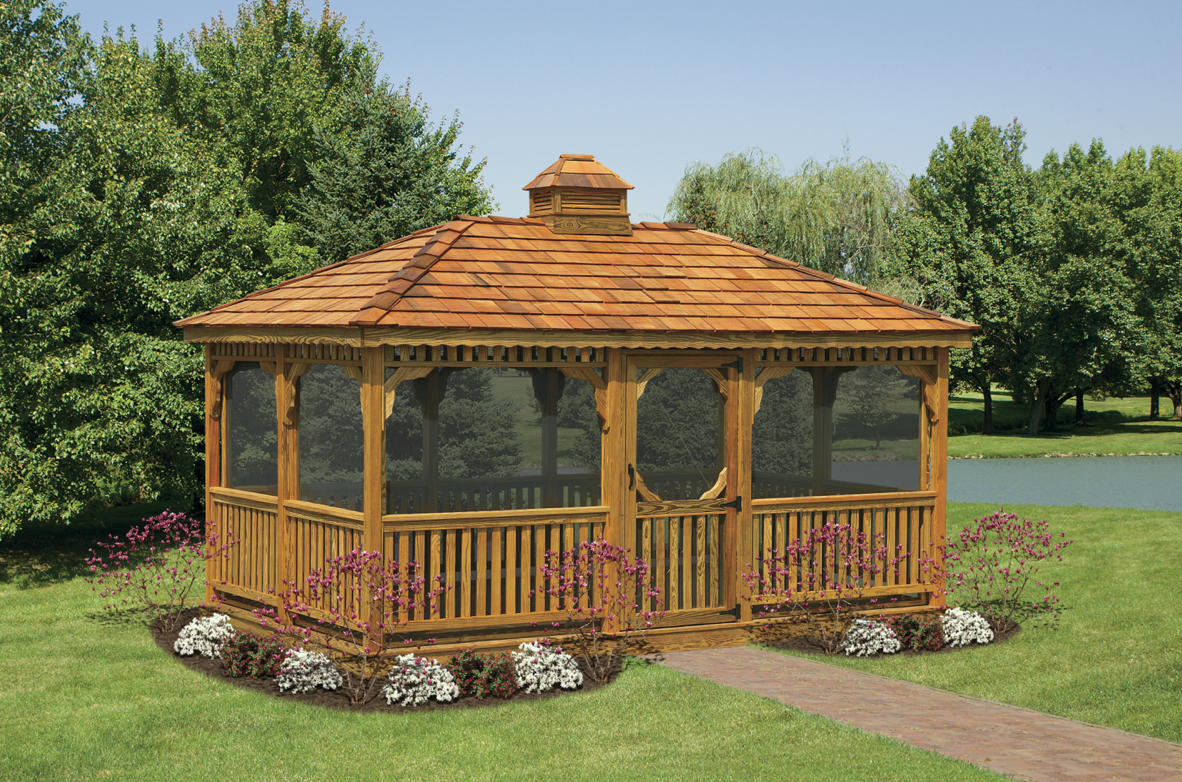 Wood Rectangular Gazebos Rectangular Gazebo Backyard Gazebo