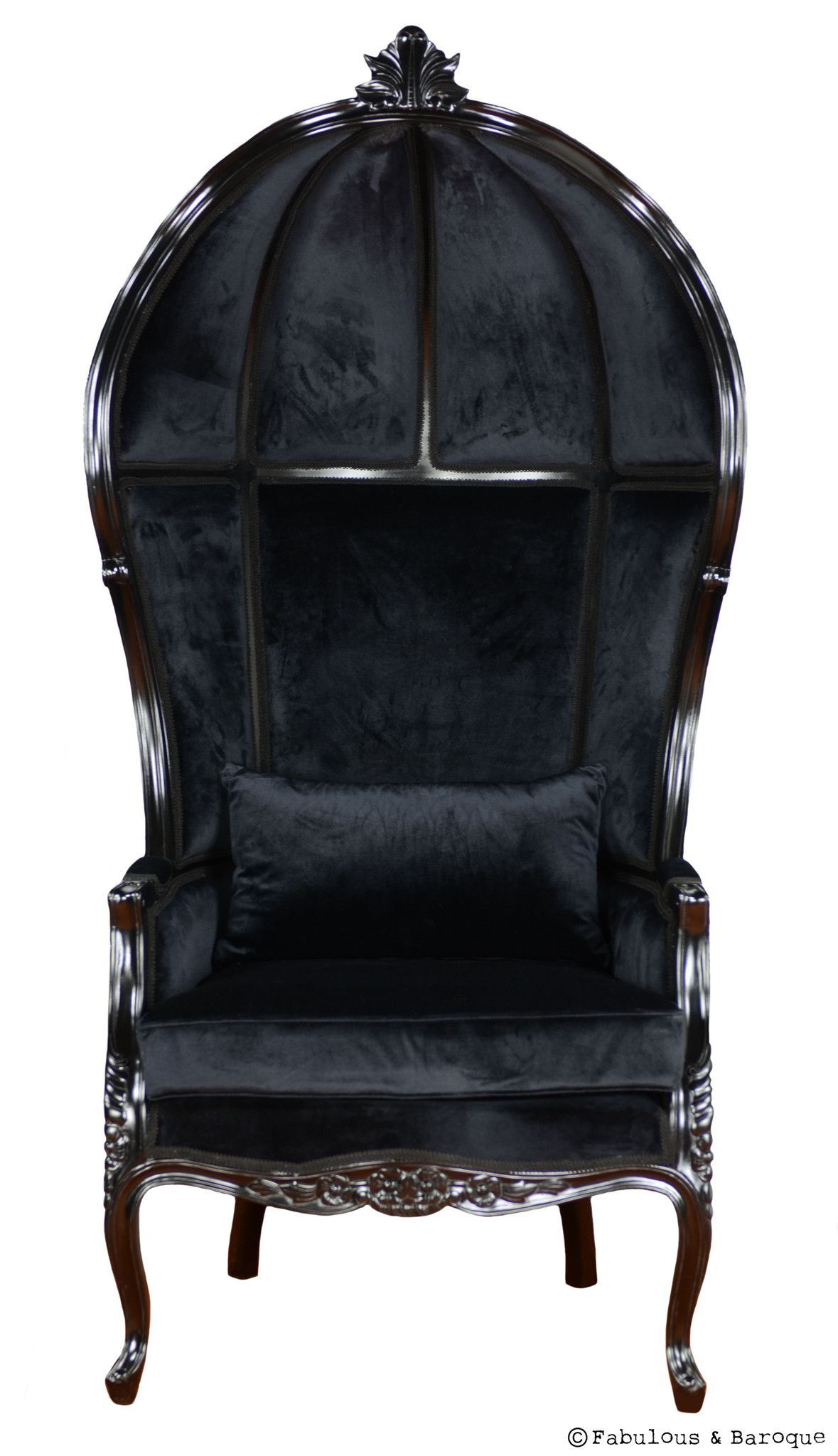 Black skull chair - Victoire Balloon Chair Black