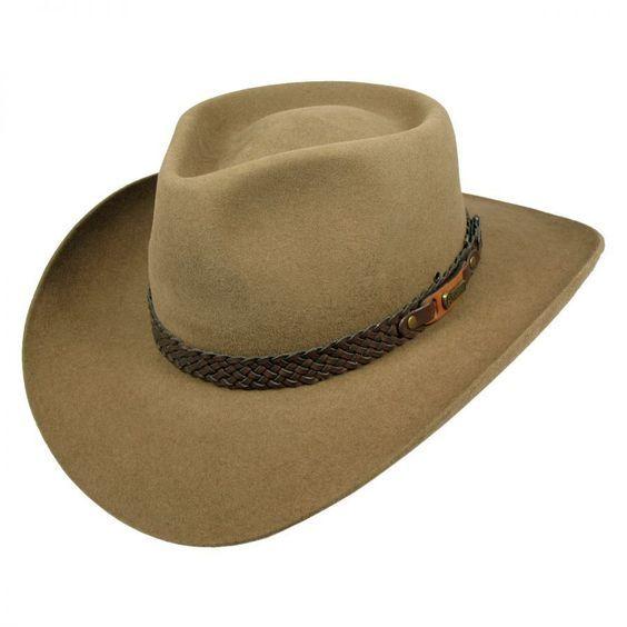 Akubra Snowy River Fur Felt Australian Western Hat Cowboy Western Hats Western Hats Akubra Leather Hats