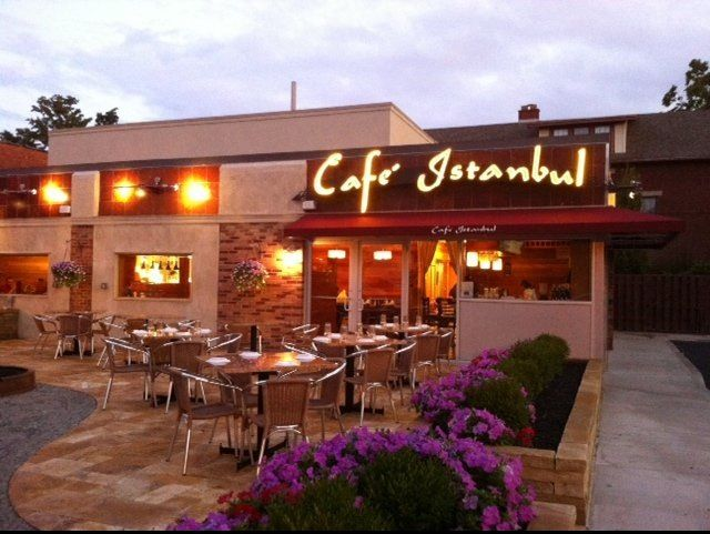 Cafe Istanbul exterior Turkish restaurant patio Columbus