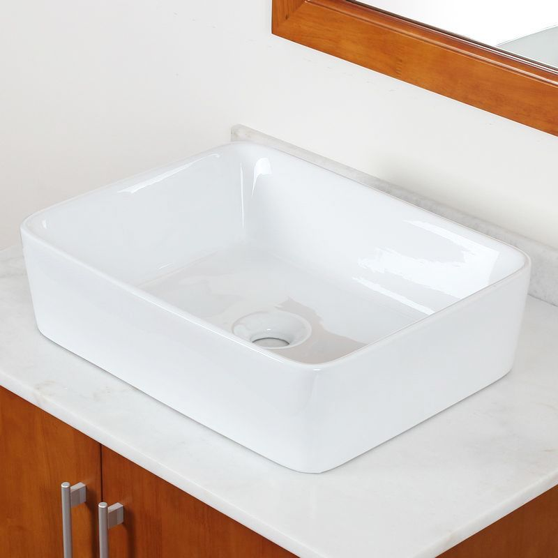 This modern, bathroom vessel sink from Elite features a grade A