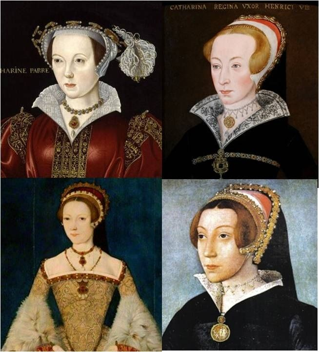 Katherine the Chameleon: some of the wildly different faces of Katherine Parr. Perhaps she was just hard to capture in paint. (Alex David)