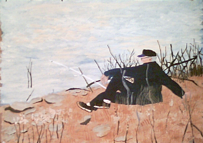 Ray Fishing, Acrylic