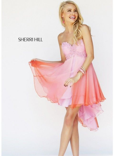 Sherri Hill 11064 Pink/Coral Dress | Short Dresses | Pinterest