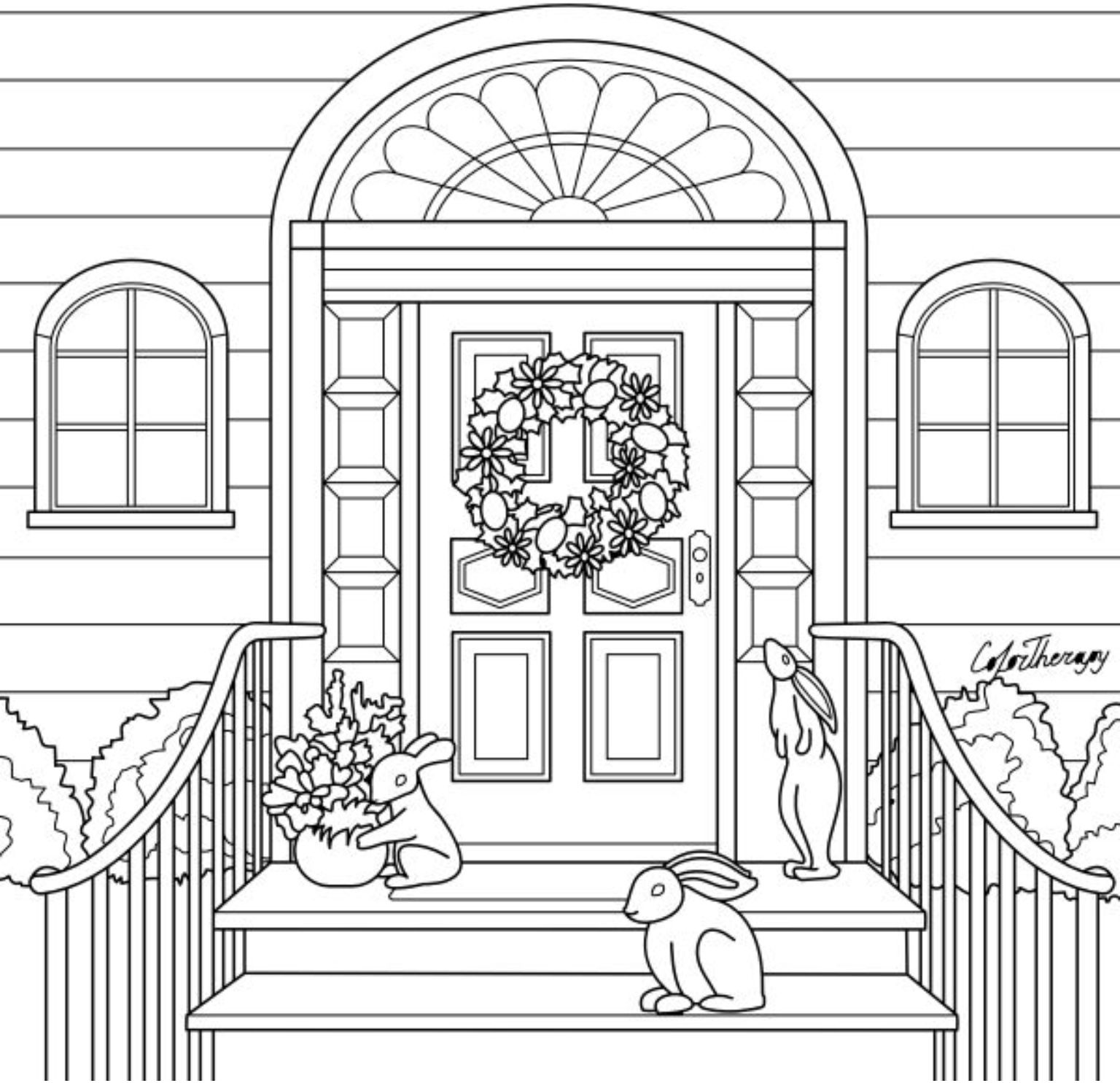 halloween therapy coloring pages   Pin by Color Therapy App on Gift Of The Day #GOTD ...