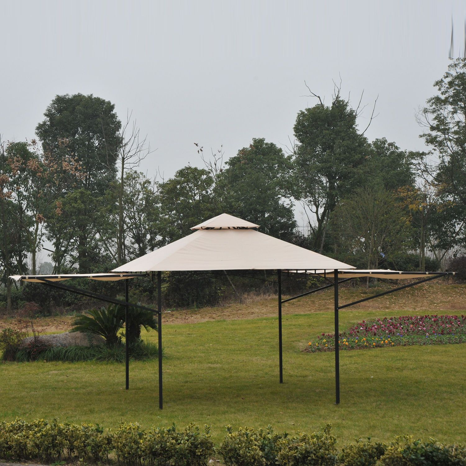 Outsunny 20' x 10' Gazebo Canopy Shelter Patio Wedding ...