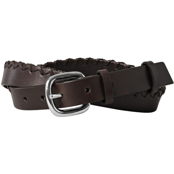 AllSaints Kala Jeans Belt , Chocolate Brown ($59) ❤ liked on Polyvore featuring accessories, belts, chocolate brown, thick leather belt, thick belt, leather belt, 100 leather belt and real leather belts