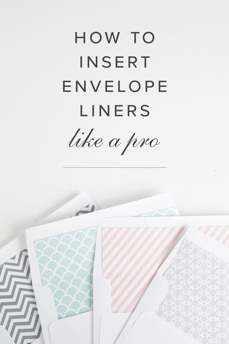 How To Assemble Your Envelope Liners | Shine wedding invitations ...