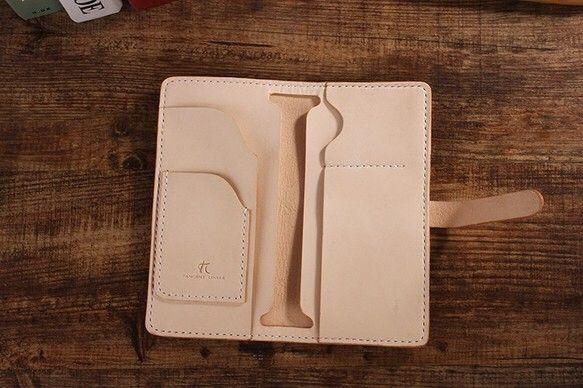 5805046cf6 切線派】牛革二つ折り手作り手縫いパスポート長財布(008001)|長財布 ...