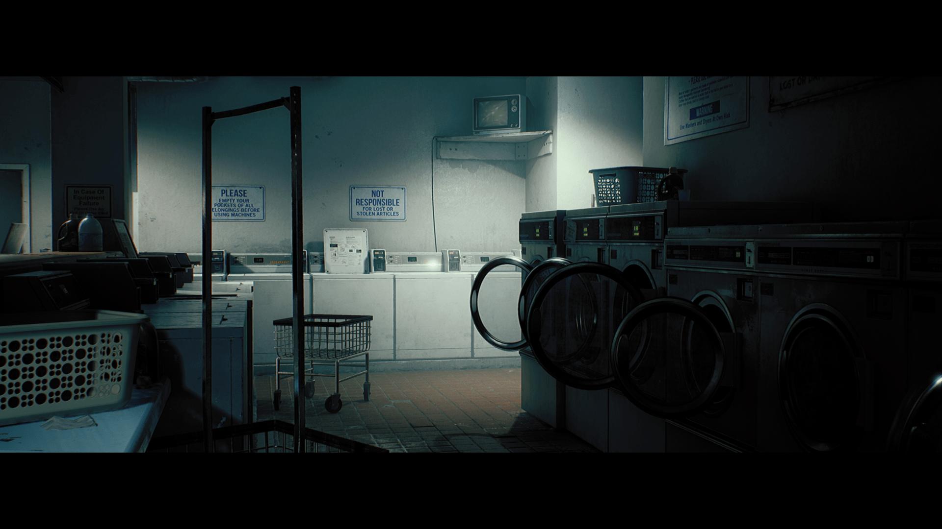 King Wash Laundromat City Scene By Dekogon Studios In