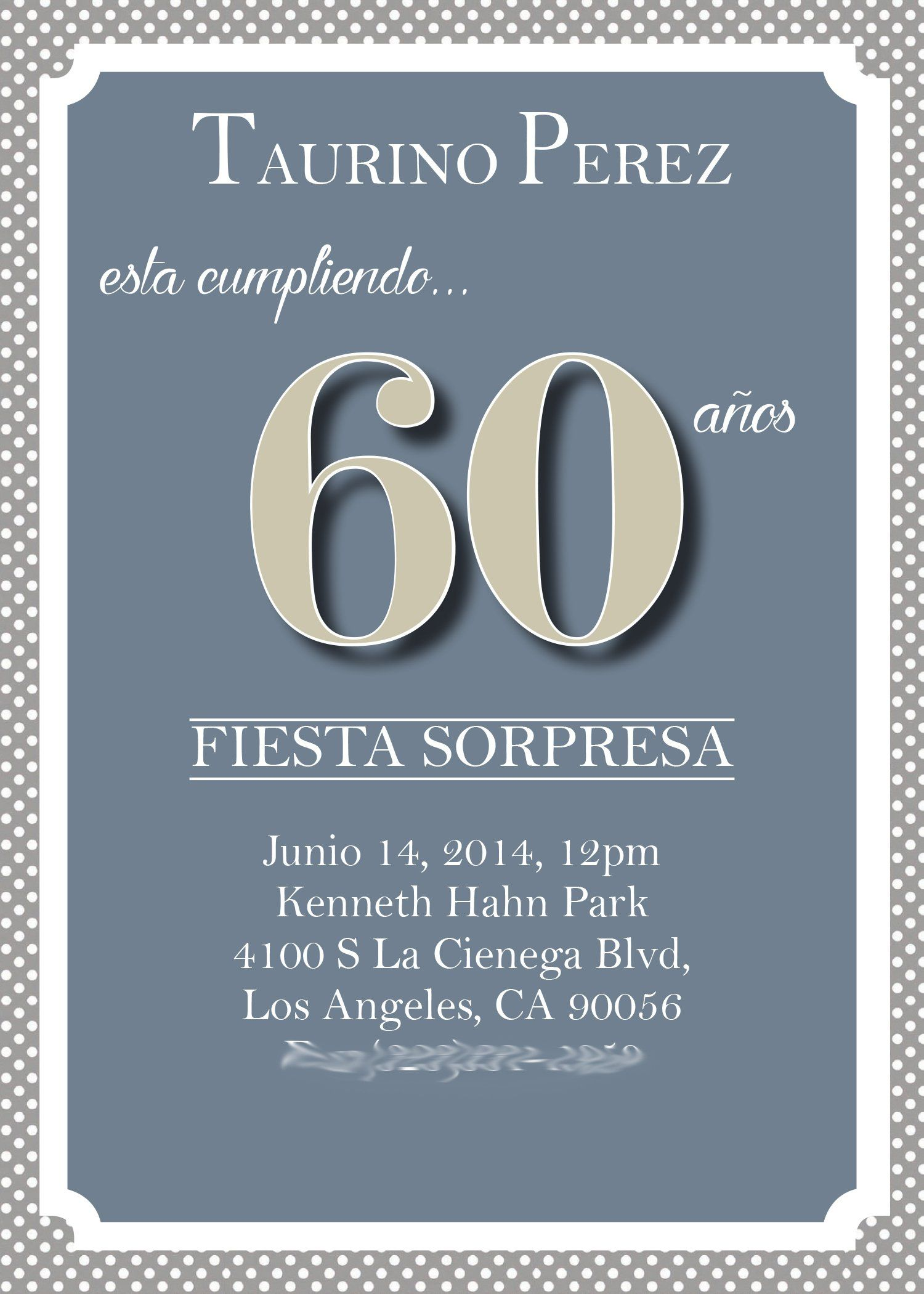 60th Birthday Invitations Online