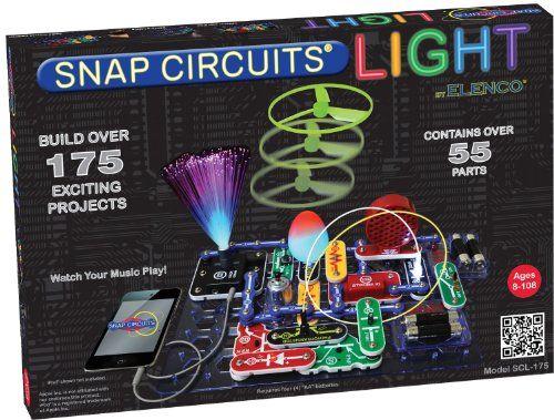 Topseller Elenco Snap Circuits Lights Physics Kit 56 61 Snap Circuits Stem Toys Educational Toys For Kids