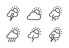 Weather Icons By Hopnguyen Mr Weather Icons Weather Cloud Icon