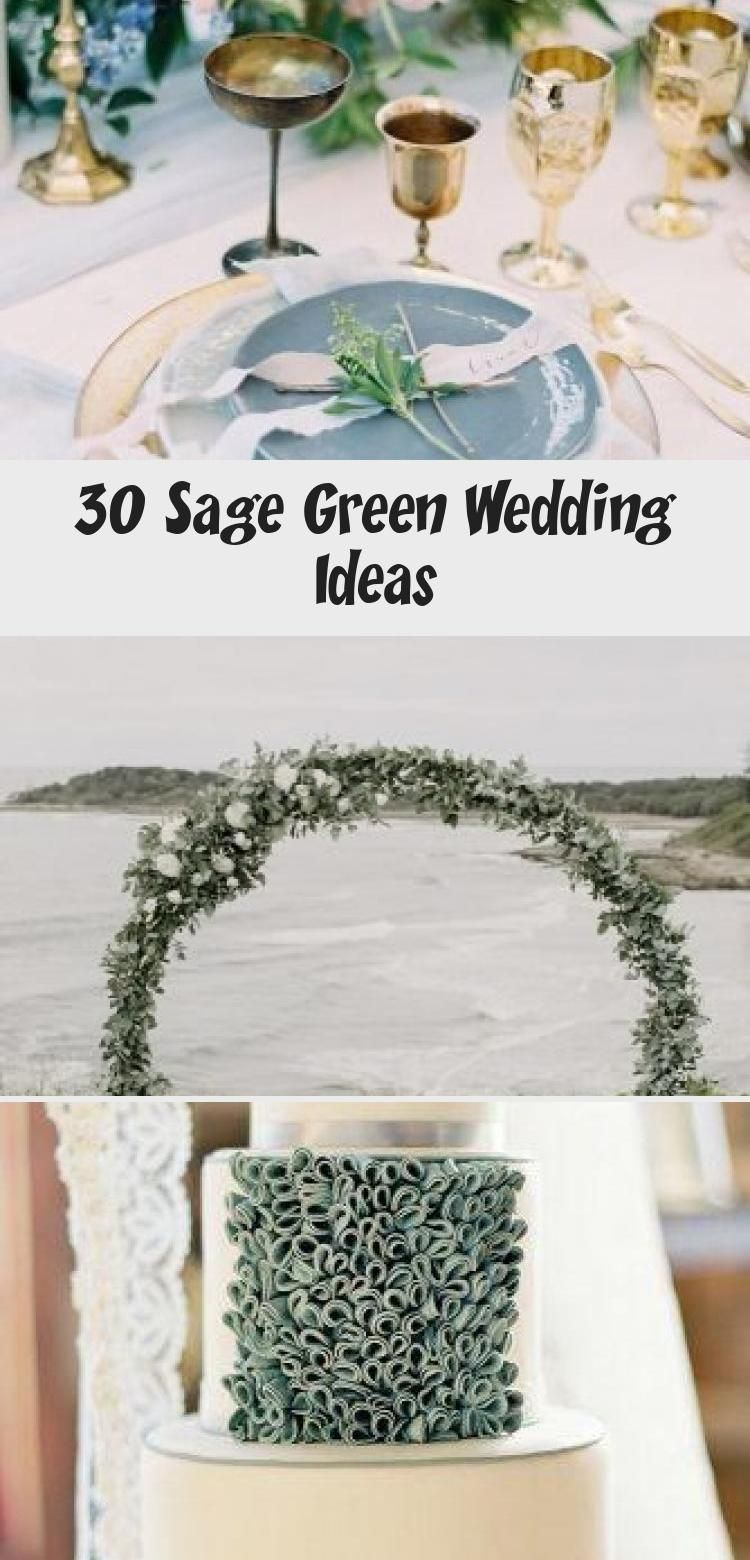 30 Sage Green Wedding Ideas #sagegreendress