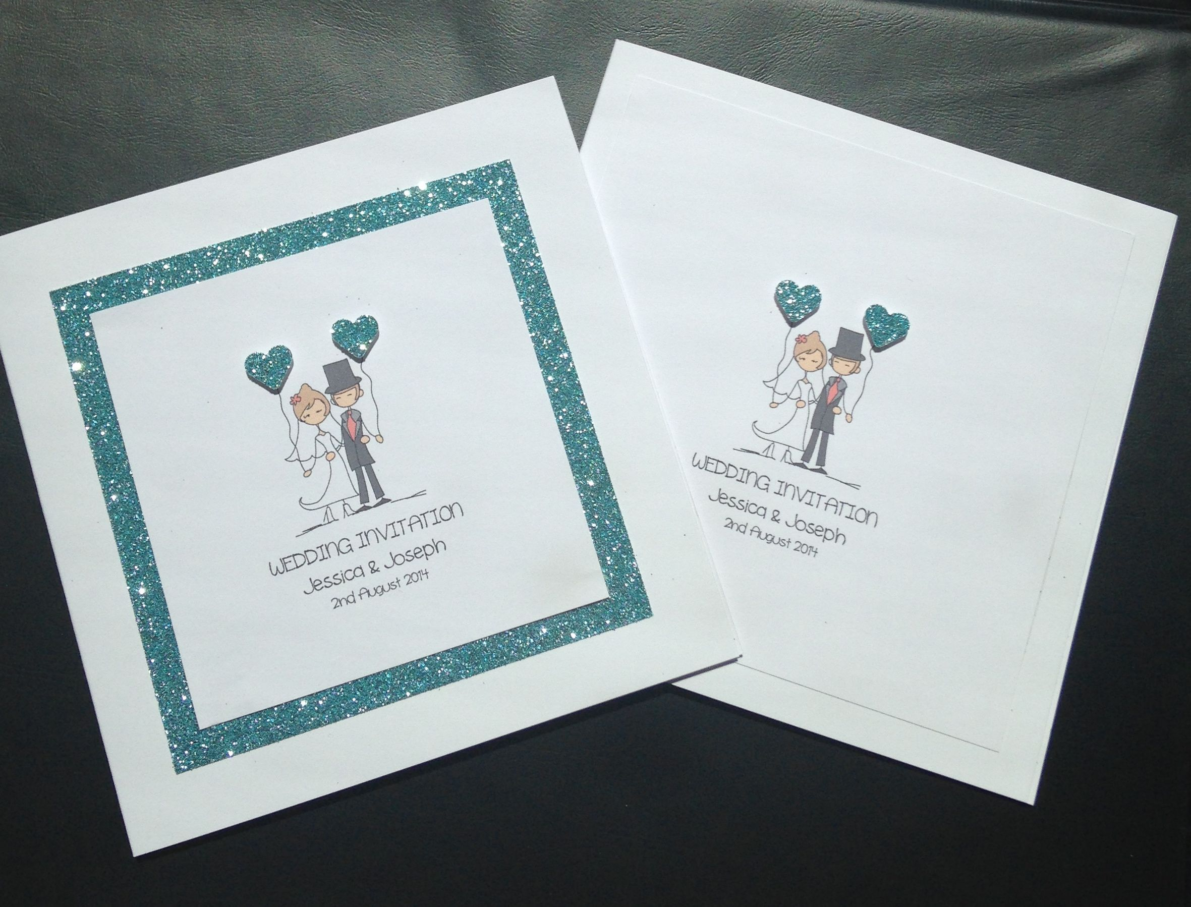 Little Bride & Broom Wedding Invitation https://www.etsy.com/uk/shop ...