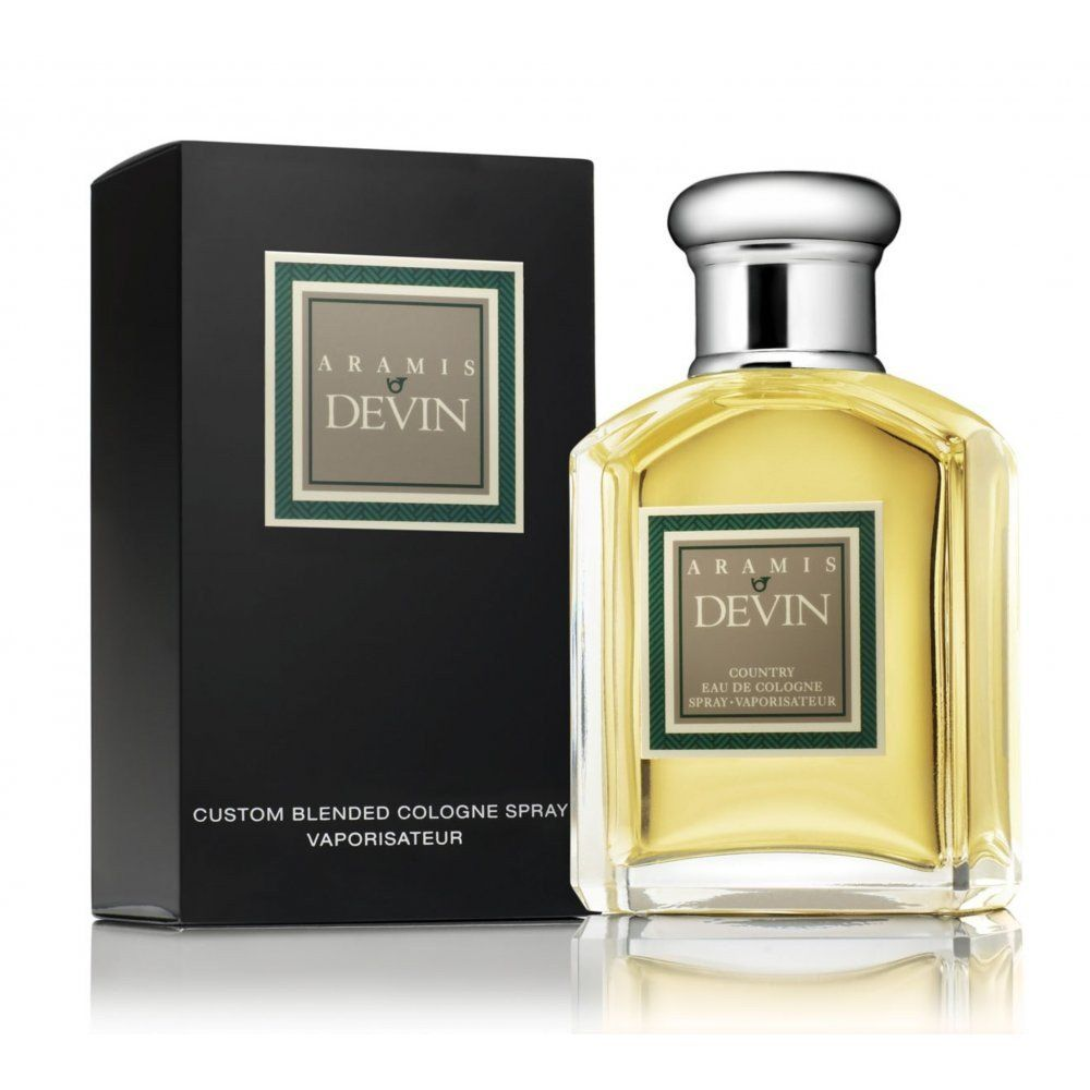 Aramis Devin ..evening scent and with a heady mix of orange, artemisia, lavender, galbanum, bergamot and lemon followed by carnation, cinnamon, jasmine, caraway and pine tree needles, it is has excellent longevity. The base notes of labdanum, leather, amber, patchouli, musk, oakmoss and cedar come through with a cosy warmness that hints at romance. It is bold and mysterious