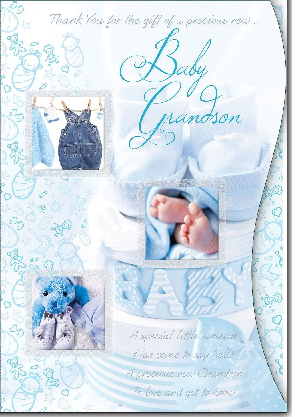 personalised greeting cards Thank You for the Gift of Precious Baby Grandson
