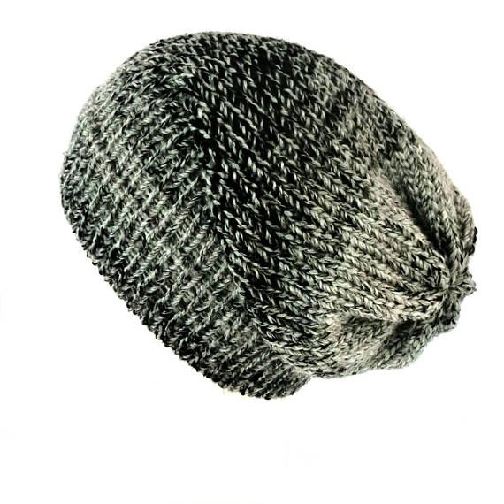 Grey and black knitted winter hat 0eaa4ad4517
