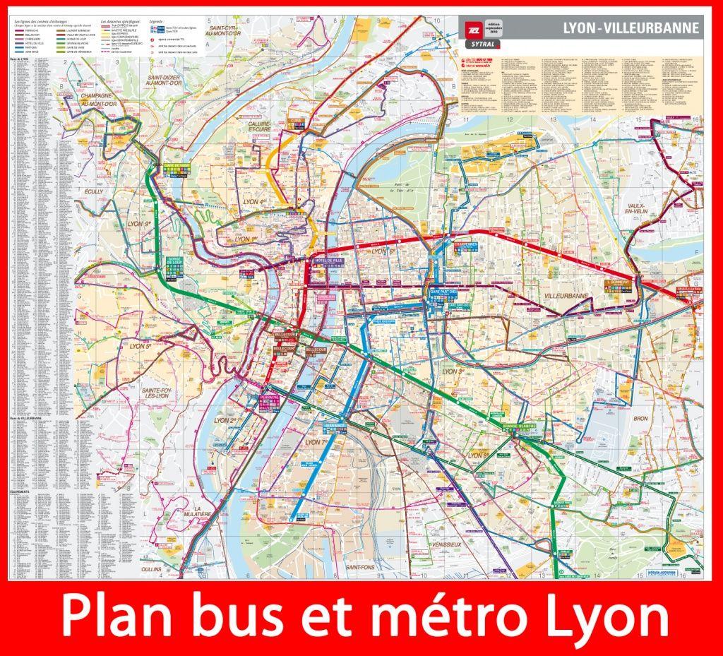 Plan métro et bus Lyon | Carte lyon, Bus, Métro