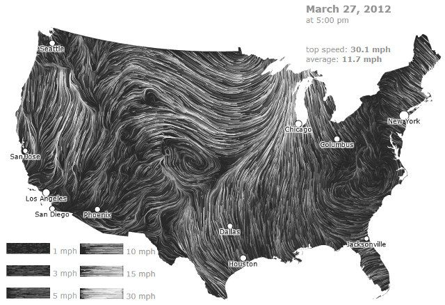 Wind Maps Is A Website That Allows You To See The Current Or Past - Current us wind map