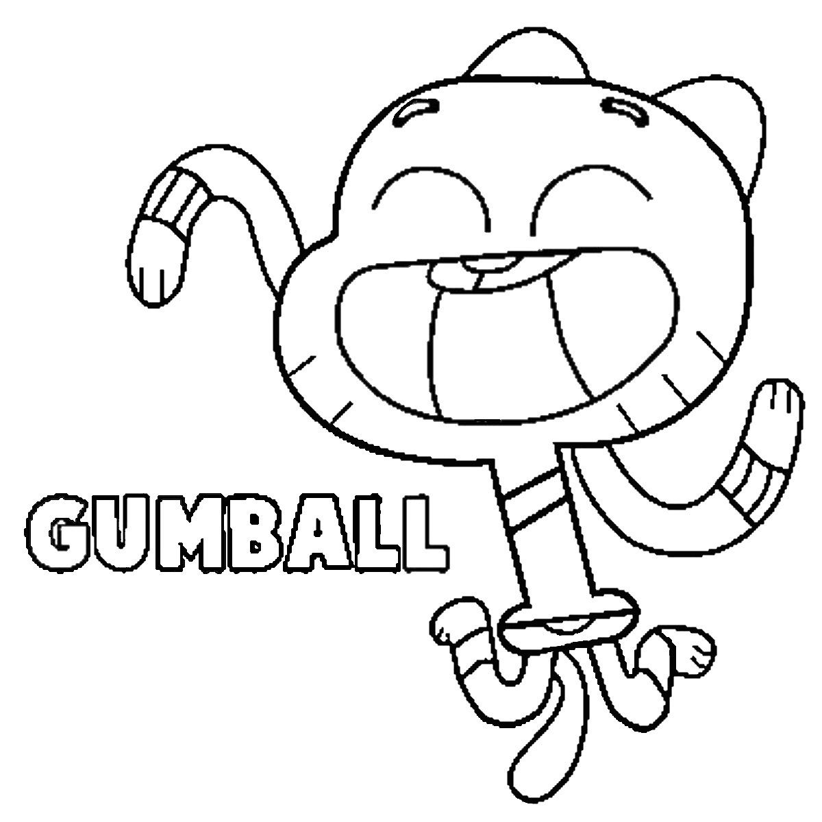 Print Now Easy Cartoon Drawings Gumball The Amazing World Of Gumball