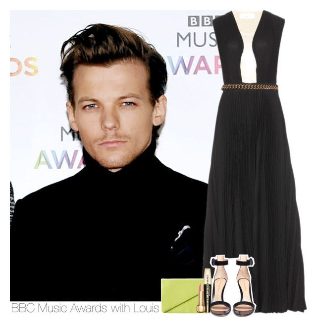 """""""BBC Music Awards with Louis"""" by mrsrofmalik ❤ liked on Polyvore featuring Victoria Beckham, Monki, Gianvito Rossi, L'Oréal Paris, Christian Dior, OneDirection, 1d, louis, louistomlinson and tomlinson"""