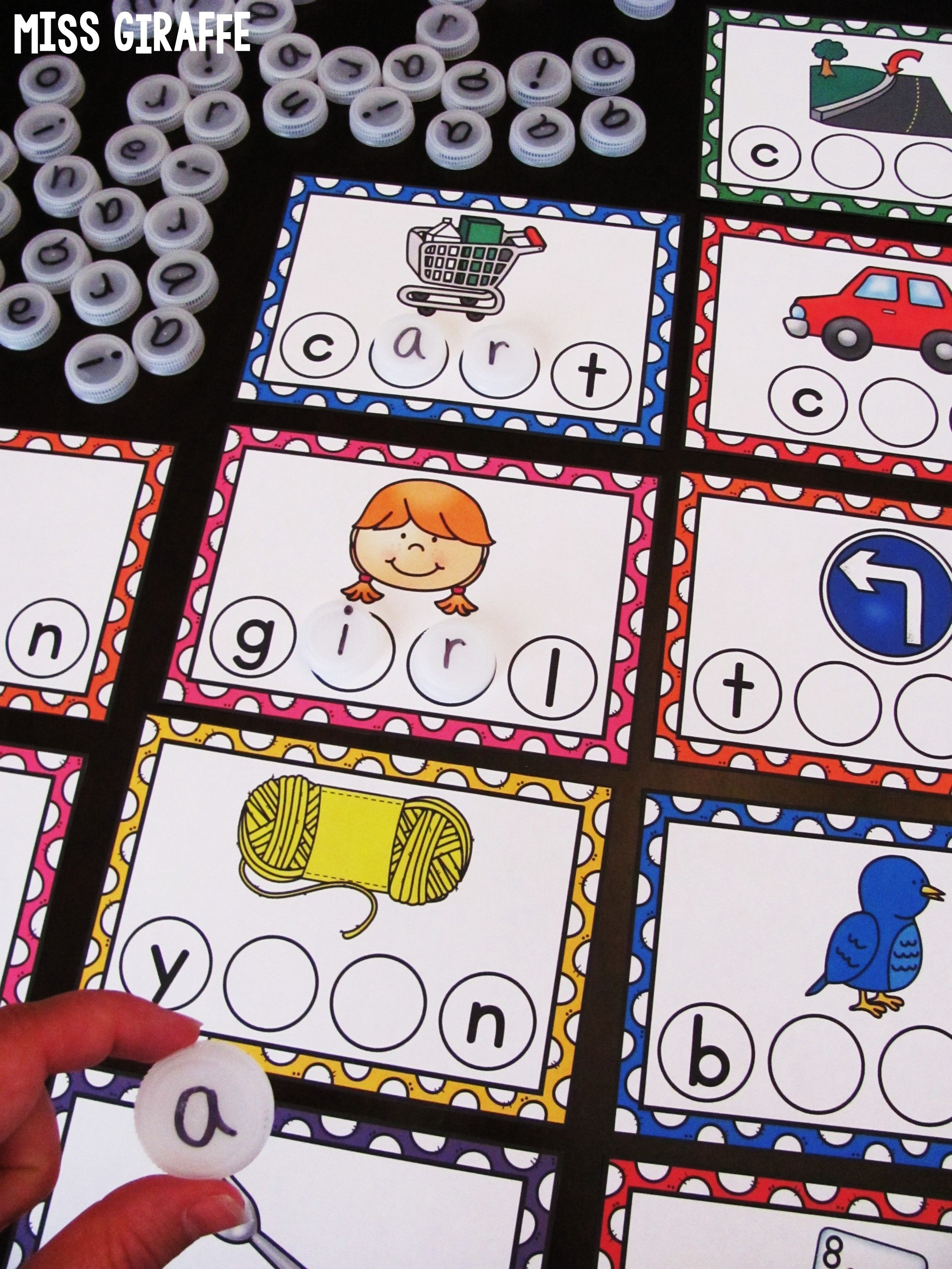 Bossy R Words Bottle Cap Centers R Controlled Vowels