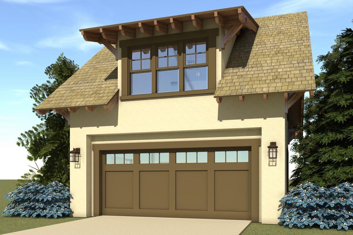 Plan 44051TD Bungalow Carriage House in 2020 Craftsman