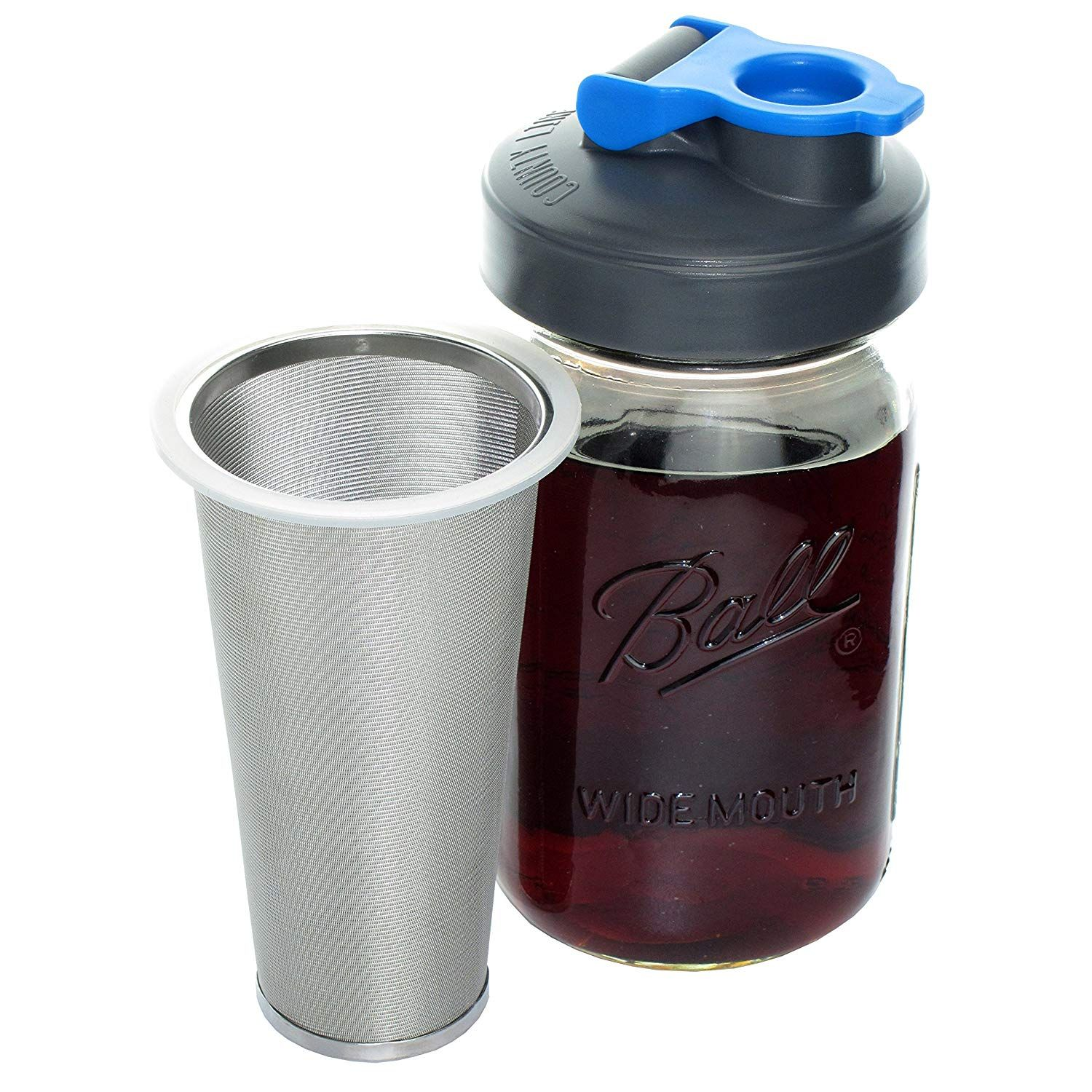 Amazon Cold Brew Coffee Maker with Flip Cap Lid by County