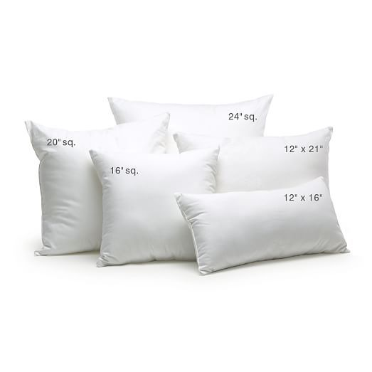 Decorative Pillow Insert 24 Sq In 2020 Pillows Pillow Sizes Chart Decorative Pillows